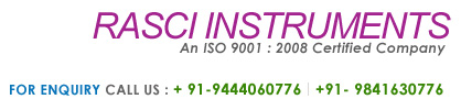 Rasciinstruments : an ISO 9001 : 2008 Certified Company